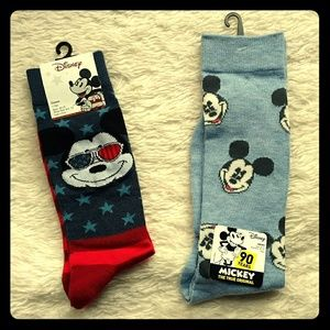 Other - Set of Disney Mickey Mouse crew socks for men